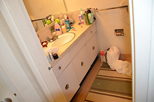 Renter Move Cleaning Bathroom Before