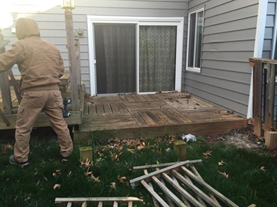 Rotting Deck removal Springfield